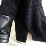 Winterjas zwart zijkant