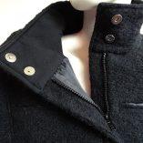 Winterjas zwart voorkant