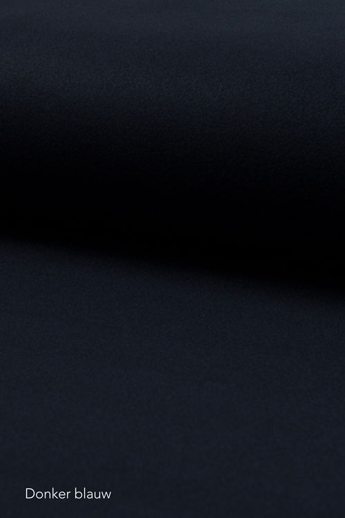 Wol blend stof Donkerblauw