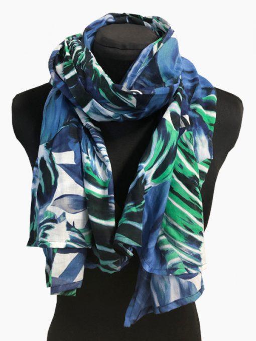 sjaal blauw groen