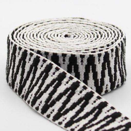 Strap zigzag zwart/wit