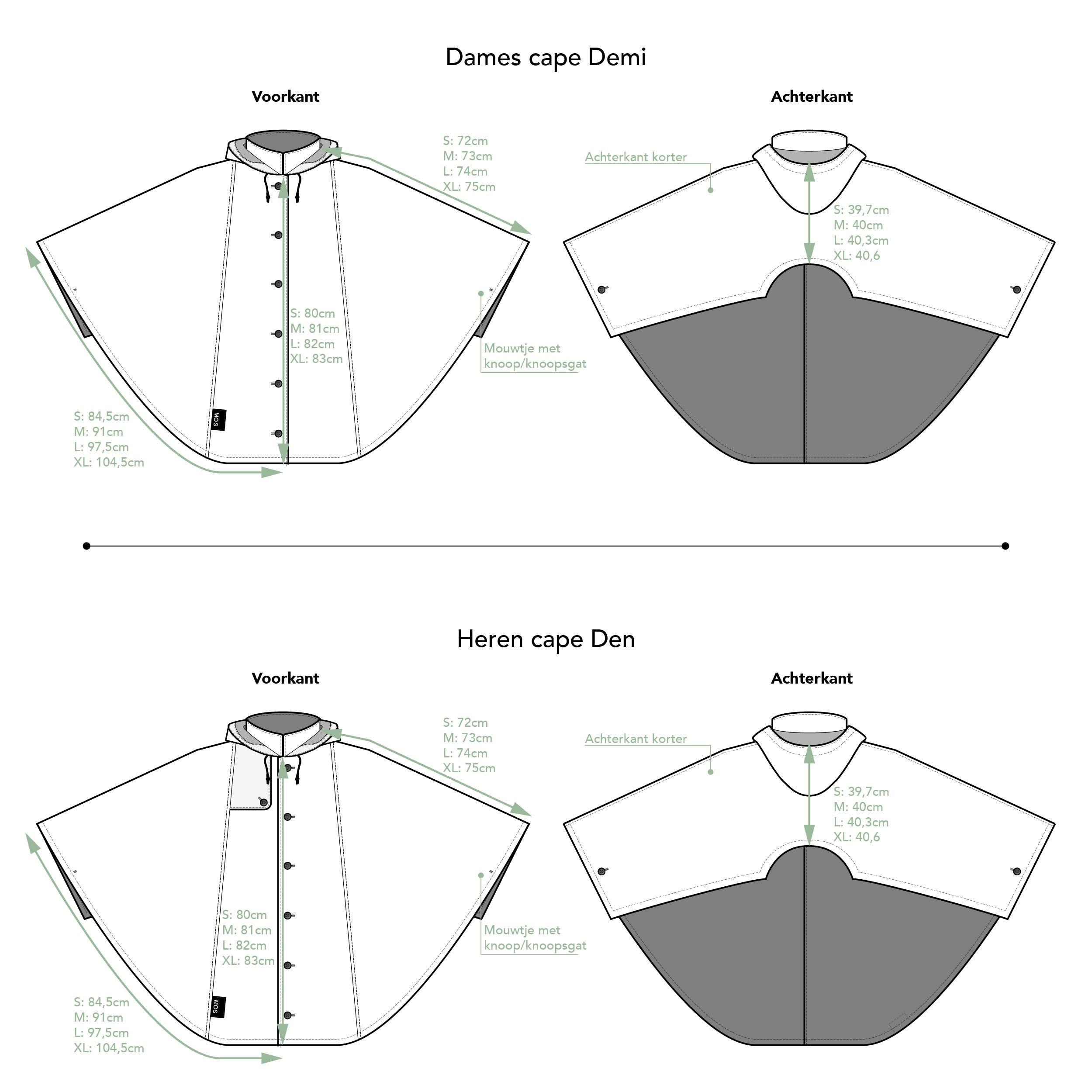 Technische tekening Cape Demi Den